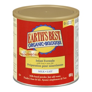 Earths Best Organic Milk Infant Formula