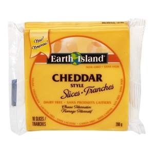Earth Island Cheddar Style Slices Cheese Alternative
