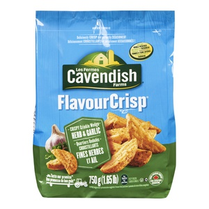 Cavendish Flavour Crispy Crinkle Potato Wedge Herb & Garlic