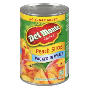 Del Monte No Sugar Added Peach Slices Packed in Water