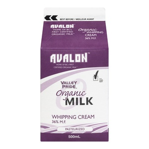 Avalon Valley Pride Organic Whipping Cream