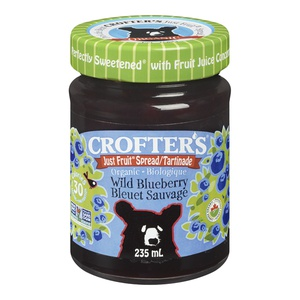 Crofters Organic Just Fruit Spread Wild Blueberry