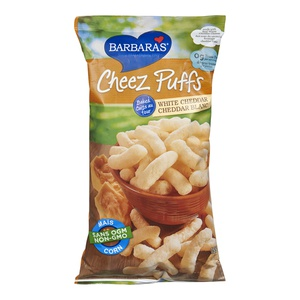 Barbaras Cheez Puffs Baked White Cheddar