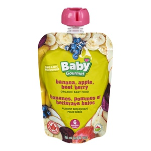 Baby Gourmet Banana Apple Beet Berry Org Baby Food