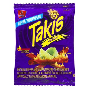 Barcel Takis Fuego Extreme Chili Lime Rolled Tortilla Chips