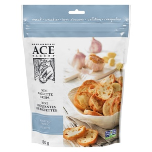 Ace Bakery Mini Baguette Crisps Roasted Garlic