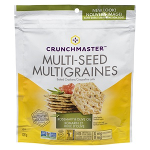 Crunchmaster Multi-Seed Crackers Rosemary & Olive Oil